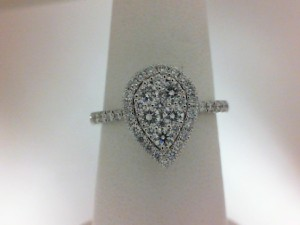 White 14 Karat Engagement Ring With 47=0.74Tw Round Diamonds