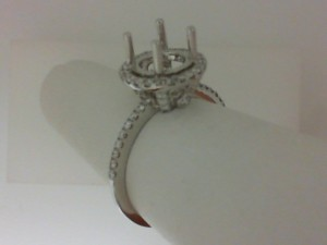 Natalie K: White 18 Karat Semi Mount Set With 0.36Tw Round Diamonds