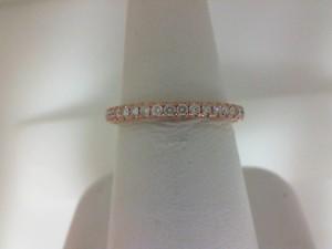 Rose 14 Karat Milgrain Prong Set Wedding Band With 34=0.45Tw Round Diamonds  Name Tradition  Ring Size 6.5