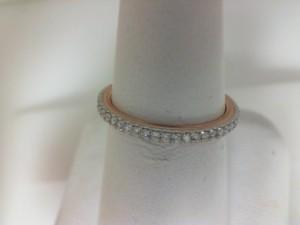 White/Rose 14 Karat Milgrain Prong Set Wedding Band With 37=0.29Tw Round Diamonds  Name Tradition  Ring Size 6.5