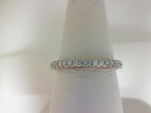 White/Rose 14 Karat Prong Set Wedding Band With 34=0.45Tw Round Diamonds  Name Tradition  Ring Size 6.5