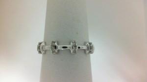 White 14 Karat Ring With 15=0.09Tw Round Diamonds