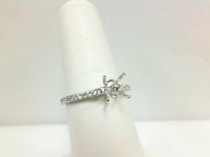 White 14 Karat Semi Mount Ring Size 6.5 With 36=0.26Tw Round Diamonds Serial #: 13059