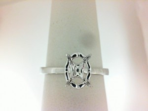 White 18 Karat Semi Mount Ring
