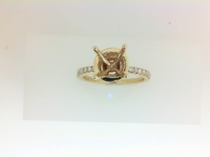 Yellow 14 Karat Ring Size 6.5 With 58=0.29Tw Round G/H Si1 Diamonds Name: Wavy Halo Center Size: For Round