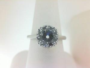 White 14 Karat Semi Mount Ring With 54=0.10Tw Round Diamonds  Serial # 576088