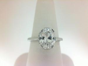 White 14 Karat Semi Mount  Ring With 26=0.10Tw Round Diamonds  Serial 576089