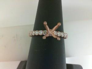 Rose 14 Karat Ring Size 6 With 0.46Tw Round Diamonds  Name RENAISSANCE  Center Size .90  Serial # 583295  SO ARENA