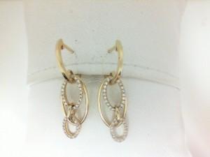 Yellow 14 Karat Earrings With 78=0.22Tw Round Diamonds