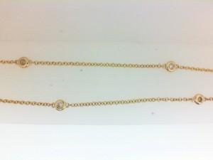 Yellow 14 Karat Bezel Set Necklace With 6=0.14Tw Diamonds Name: Diamonds By The Yard Metal: 14 Karat Color: Yellow Length: 16