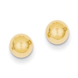 14Ky 6Mm Ball Post Earrings