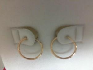 Yellow 14 Karat Small Hoop Earrings Name: 13Mm Endless Hoop