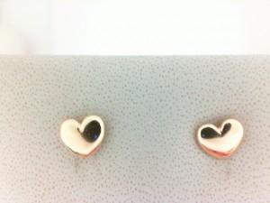 Yellow 14 Karat Heart Earrings