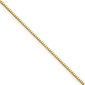 Yellow 14 Karat Chain Name: 0.50Mm Chain Type: Box Length: 20