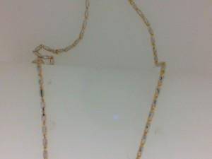 Two-Tone 14 Karat Chain Length: 18