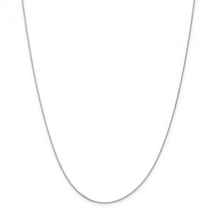 White 14 Karat Chain Name: Baby Box Length: 16
