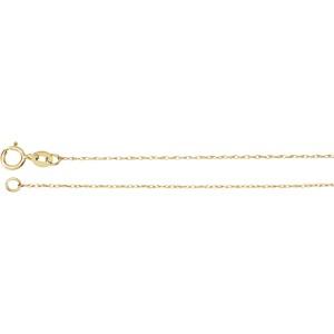 Yellow 14 Karat Fine Rope 20 Inch Chain