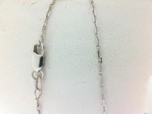 White 14 Karat Chain Anchor Link Length: 16