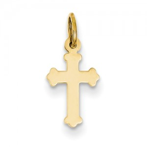 Yellow 14 Karat Pendant Charm Type: Cross
