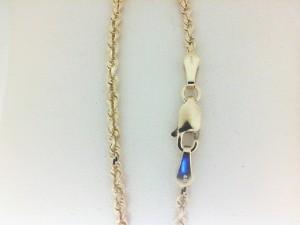Yellow 14 Karat Bracelet 2.5 Mm Rope Length: 7.75