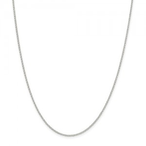 Sterling Silver Chain Length: 22 1.5 Mm Cable Chain