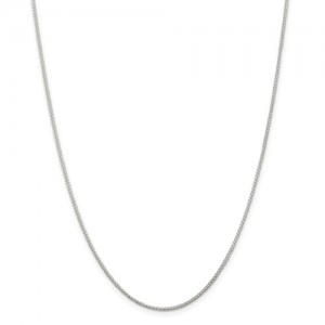 Sterling Silver Cable Link Chain Length: 22