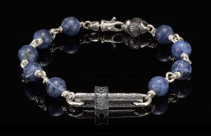 William Henry Sterling Silver Sodalite Bead Bracelet Sodalite Sanctum