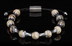 William Henry Sterling Silver Bead Bracelet Mammoth Zenith