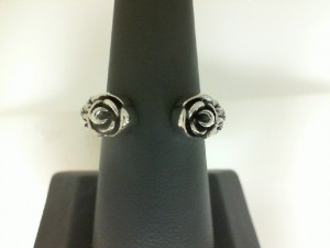 King Baby: Sterling Silver Open Ring With Roses
