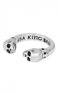 King Baby: Sterling Silver Skull Ring Size 7