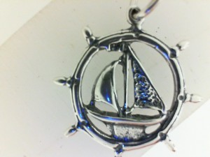 Sterling Silver Pendant Charm Type: Antique Sailboat
