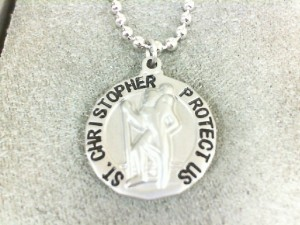 Stainless Steel Matte Religious Charm Pendant Charm Type: St Christopher Metal: Stainless Steel Length: 22