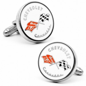 Vintage Chevy Corvette Logo Cufflinks