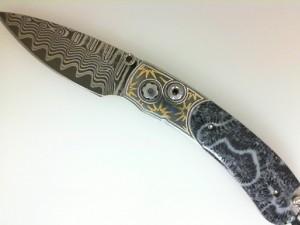 William Henry Knife Frame Type 24K Gold Koftgari