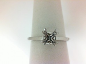 White 18 Karat Ring With 2=0.02Tw Round Diamonds
