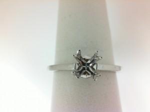 White 18 Karat Ring With 2=0.02Tw Round Diamonds