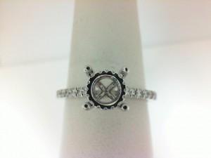White 18 Karat Semi Ring Size 6.5 With 28=0.31Tw Round Diamonds
