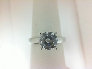 White 18 Karat Ring Serenity Solitaire Semi-Mount