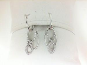 White 14 Karat Earrings With 78=0.23Tw Round Diamonds