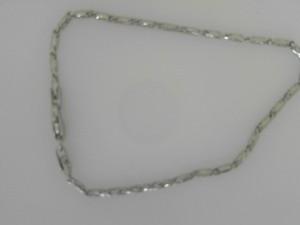 White 14 Karat Bracelet Name: Raso Length: 7