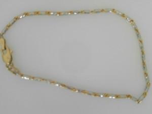 Yellow/White 14 Karat Bracelet Name: Raso Length: 7.5