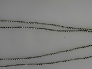 Sterling Silver Box Chain Length: 17