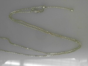 Sterling Silver Chain Length: 21 Name: Adjustable Slider 1.5mm