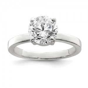 Sterling Silver Ring Size 7 Name: Cz Solitaire