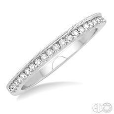 14 Karat White Gold Wedding Band With 23=0.15 Tw Round H/I Si2-3 Diamonds