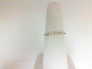14 Karat Yellow Gold Flexible Band With 17=0.20Tw Round Diamonds