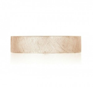 Tacori: 14 Karat Rose Gold Coastal Crescent Wedding Band With 0.01Tw Round Diamonds Ring Size: 10.5