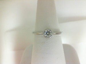 Forevermark: 18 Karat White Gold Tribute Ring With One 0.25Ct Forevermark Round H Si1 Diamond FM 1917877