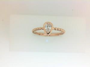Forevermark: 18 Karat Rose Gold Tribute Ring With One 0.30Ct Forevermark Pear E Si1 Diamond Fm 5197296