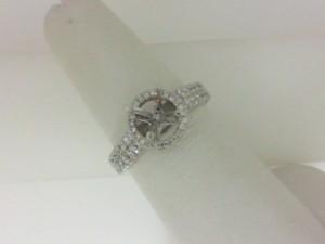 Natalie K: 14K White Gold .57Ctw Diamond Semi Mount Ring